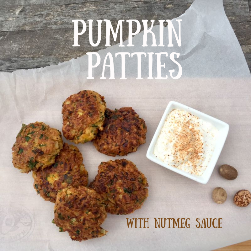 Post image for Fresh Pumpkin Patties with Nutmeg Sauce