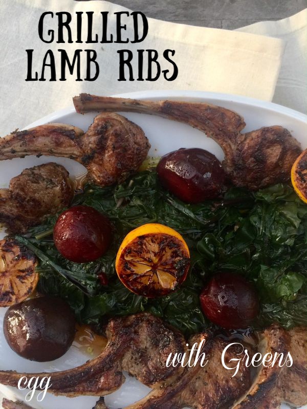 Post image for Grilled Lamb Chops with Greens and Beets