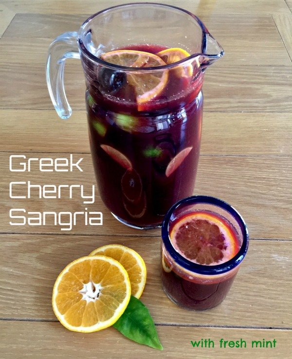 Post image for Greek Cherry Sangria with Fresh Mint