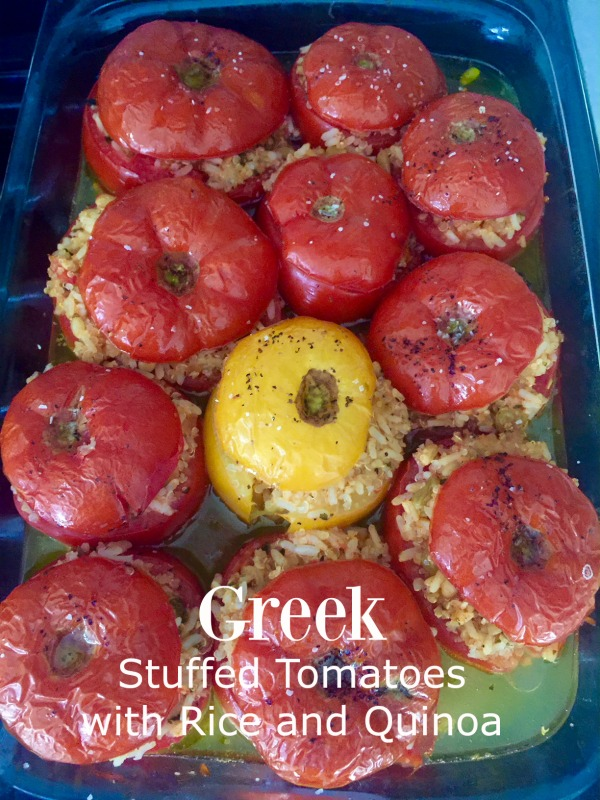 Post image for Greek Stuffed Tomatoes with Quinoa and Rice