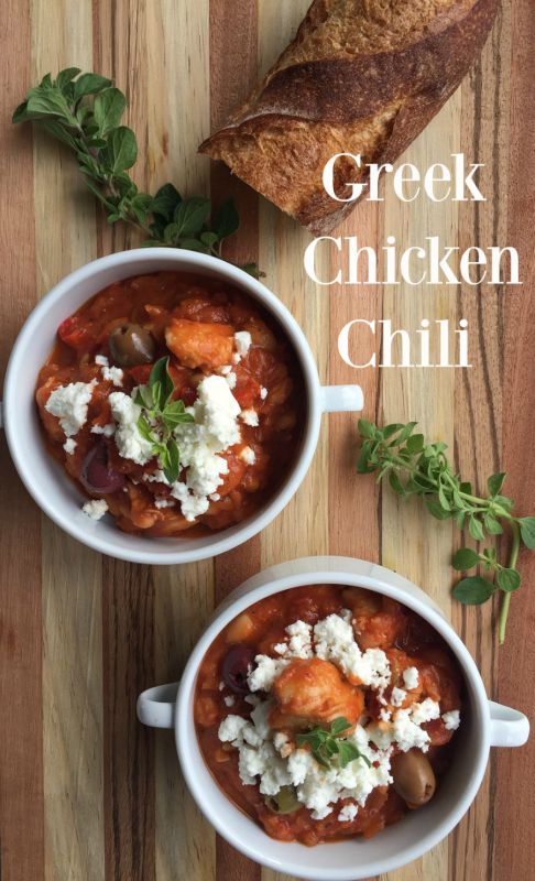 Post image for Greek Chicken Chili with Oregano