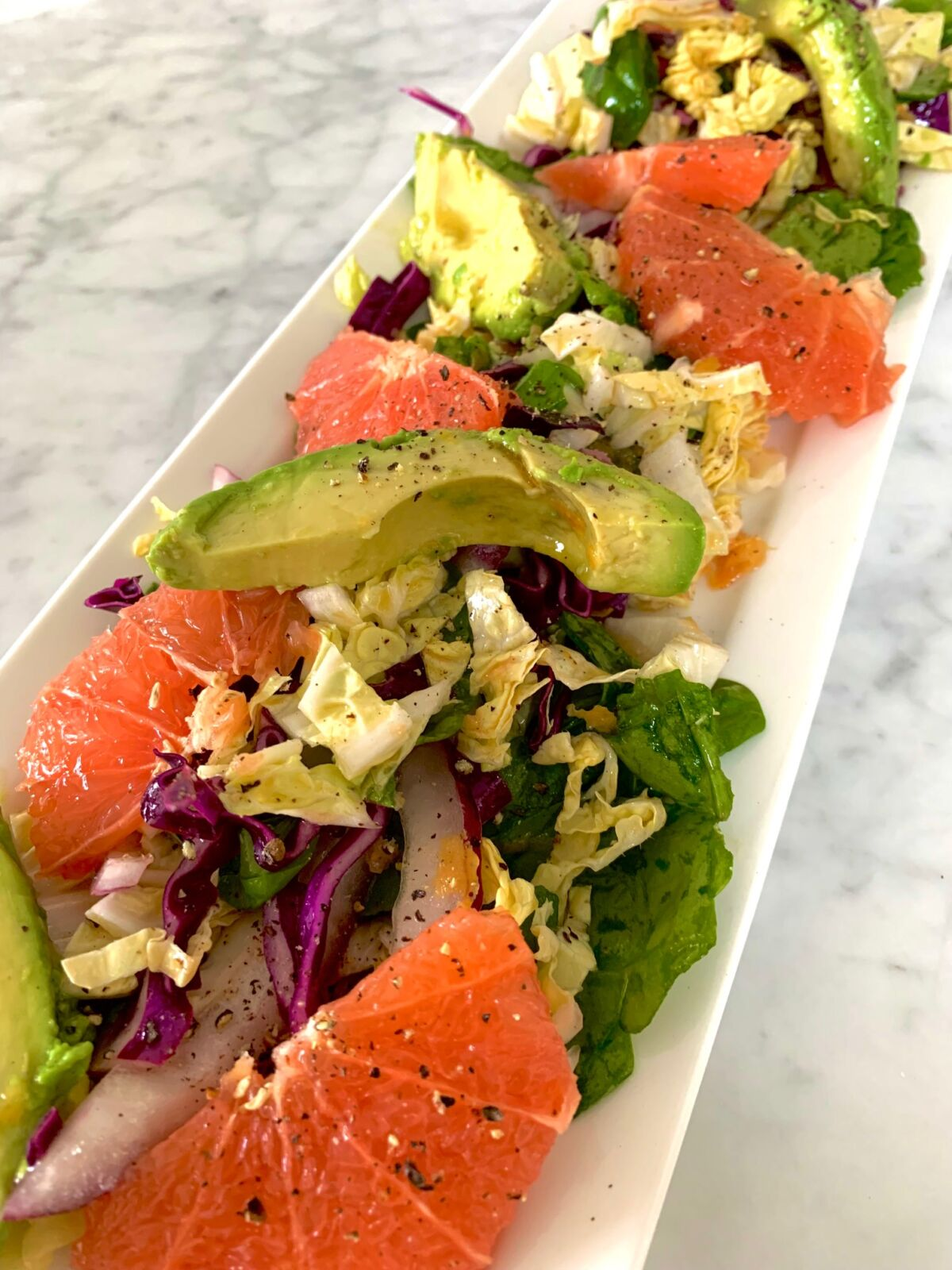 Post image for Grapefruit and Avocado Cabbage Slaw