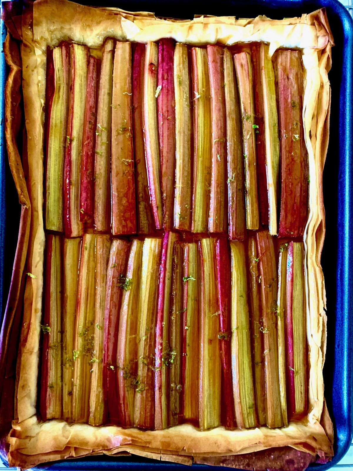 Post image for Rhubarb Phyllo Tart